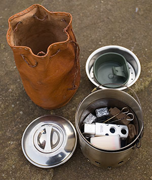 Wayland's Hobo Stove packed